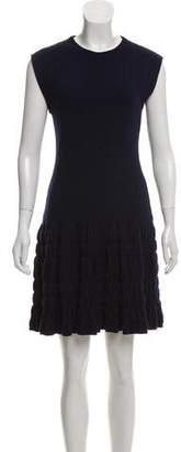 Philosophy di Alberta Ferretti Virgin Wool Mini Dress