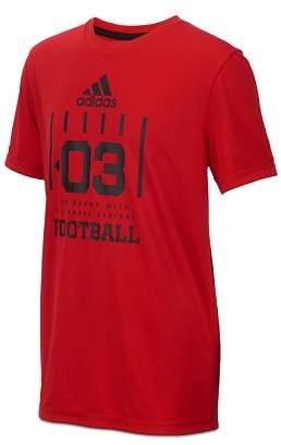adidas Boys' Short Sleeve Football Graphic Tee - Big Kid