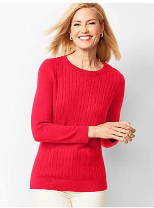 Talbots Cable Crewneck Sweater
