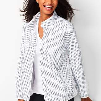 Talbots Lightweight Stretch Dot Woven Jacket
