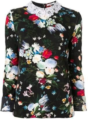 Erdem floral print top