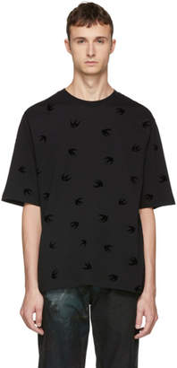 McQ Black Mini Swallow T-Shirt
