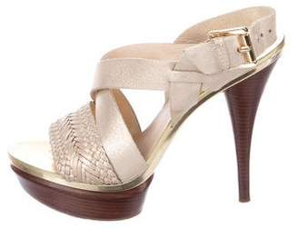MICHAEL Michael Kors Leather Platform Sandals