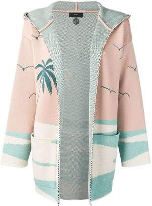 Alanui tropical hooded cardigan
