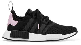 adidas Nmd_r1 Rubber-trimmed Stretch-knit Sneakers - Black