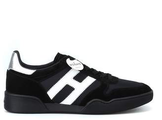 Hogan H357 Black Suede And Techno Fabric Sneakers