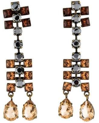 Lanvin Crystal Drop Earrings