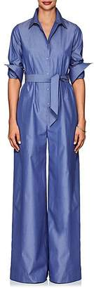 Martin Grant WOMEN'S COTTON POPLIN WIDE-LEG JUMPSUIT - LT. BLUE SIZE 44 FR