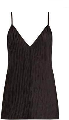 Raey V-neck crinkled-silk cami top