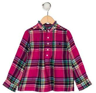 Polo Ralph Lauren Girls' Plaid Top