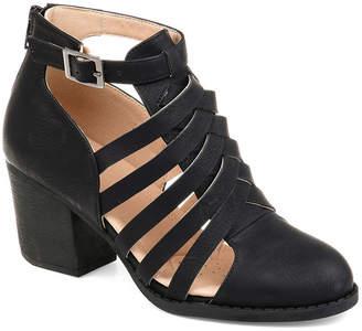 Journee Collection Womens Isadore Booties Block Heel Zip