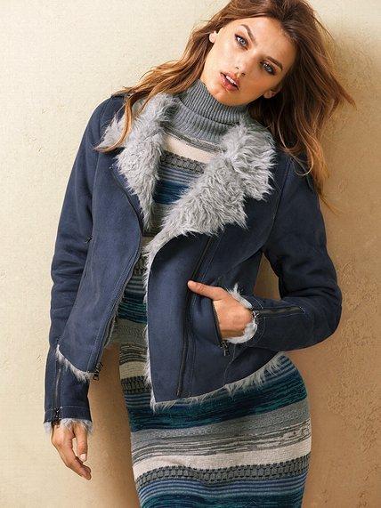 Victoria's Secret Faux-shearling Moto Jacket