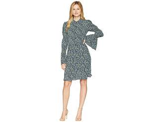 MICHAEL Michael Kors Smocked Sleeve Shirtdress Women's Dress