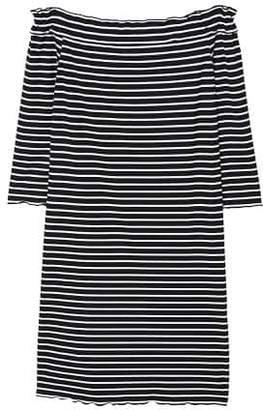 MANGO Off-shoulder striped dress