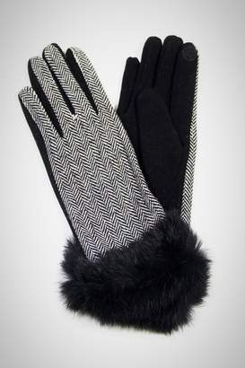 Embellish Herringbone Texting Gloves