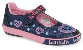 Lelli Kelly Kids Beaded Heart Glitter Mary Jane Sneaker