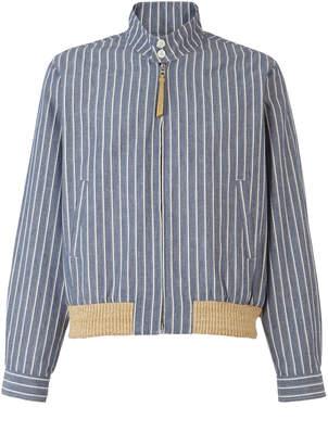 Loewe Pinstripe Blouson Zip Jacket