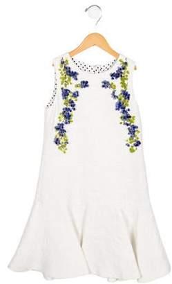 Dolce & Gabbana Girls' Embellished Flounce Dress w/ Tags