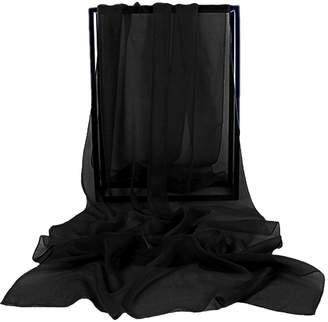 VaniaDress Women Chiffon Long Shawls Bridal Wrap Evening Dress Scarves V002PJ S