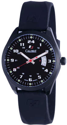 Calibre 40mm Men's Trooper Rubber Strap Watch