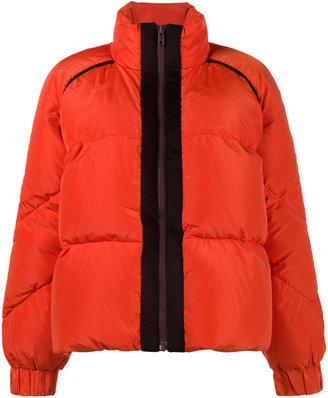 Ganni Fountain contrast trim puffer coat