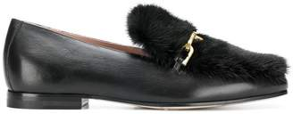 Max Mara logo plaque loafers