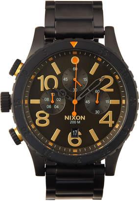 Nixon 48-20 Chrono Bracelet Watch, Black