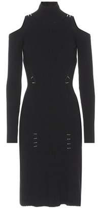 Thierry Mugler Embellished knit midi dress