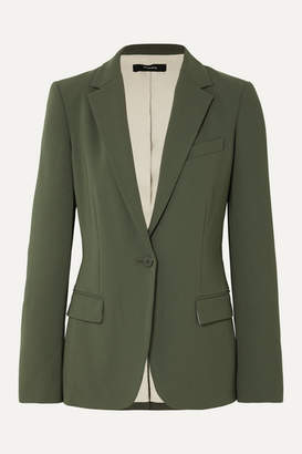 Theory Crepe Blazer - Army green