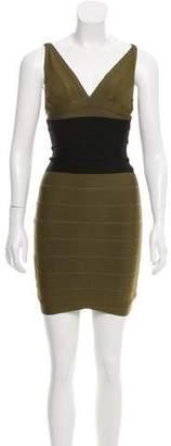 Herve Leger Colorblock Maisie Dress