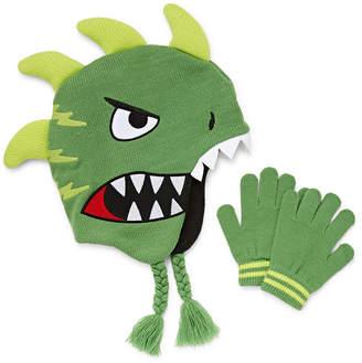 ABG Dino Trapper Hat with Gloves Set-Boys f2c95392b2cc