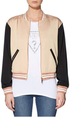 GUESS Long Sleeve Embellished Palm Bomber