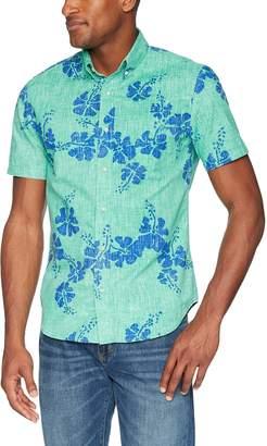 Reyn Spooner Men's Spooner Kloth Tailored Fit Button Front Hawaiian Shirt
