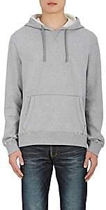 Valentino Men's Studded Cotton-Blend Terry Hoodie - Light Gray