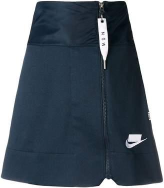 Nike high waisted zipper skirt