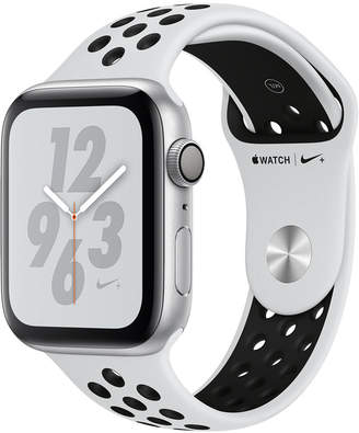 Apple Watch Nike+ Series 4 Gps, 44mm Silver Aluminum Case with Pure Platinum Black Nike Sport Band
