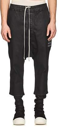 Rick Owens Men's Waxed Drop-Rise Jeans