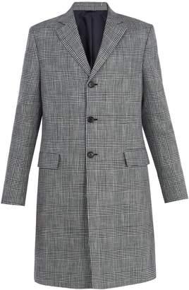 Acne Studios Mavin Prince of Wales-checked linen-blend coat