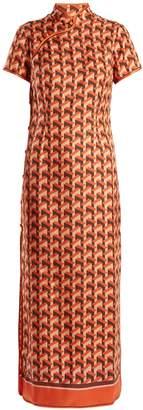F.R.S - FOR RESTLESS SLEEPERS Eutenea geometric-print silk-twill dress