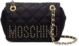 Moschino Black Quilted Mini Nylon shoulder bag