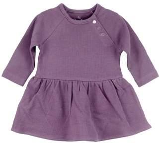 Oliver & Rain Plum Long Sleeve Bodysuit Dress (Baby Girls)