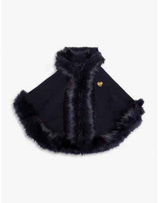 Bandits Girl Faux-fur trim hooded cape