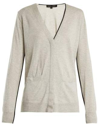 Proenza Schouler V-neck piped-edge cotton-blend cardigan