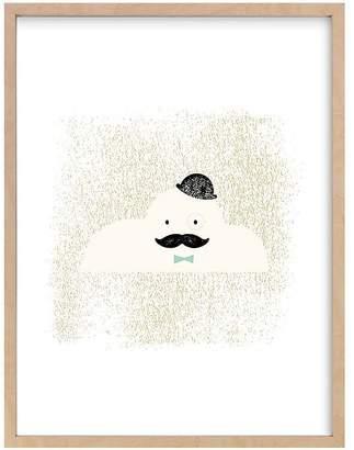 Pottery Barn Kids Mr. Cloud Wall Art by Minted®, Black, 11x14
