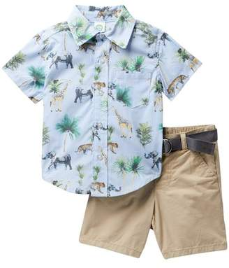 Little Me Safari Woven Short Set (Baby Boys)