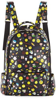 Bari Lynn Kids' Emoji-Print Faux-Leather Backpack