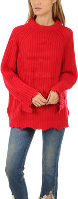 R 13 Distressed Fisherman Sweater