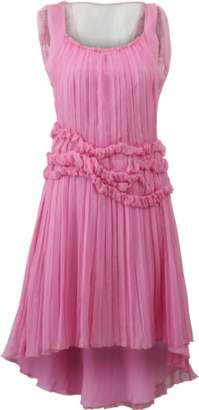 Alberta Ferretti Chiffon High Low Dress