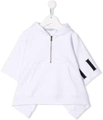 Philosophy di Lorenzo Serafini Kids asymmetric hem hoodie