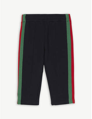 Gucci Web stripe cotton jogging bottoms 6-36 months